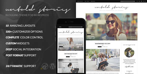 best personal blog wordpress themes - fashion blog