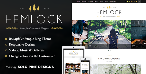 best personal blog wordpress themes - hemlock