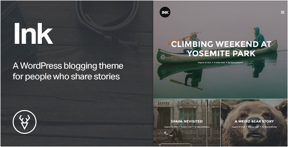 best personal blog wordpress themes - ink