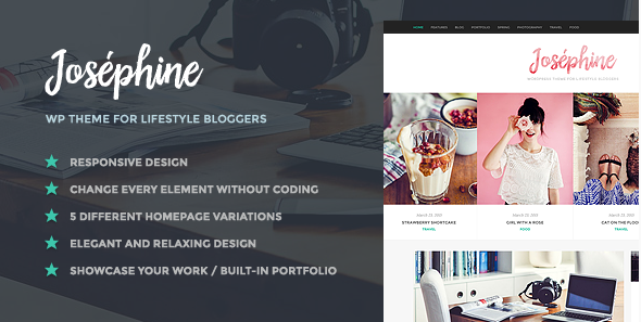 best personal blog wordpress themes - josephine