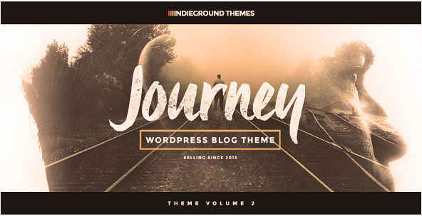best personal blog wordpress themes - journey