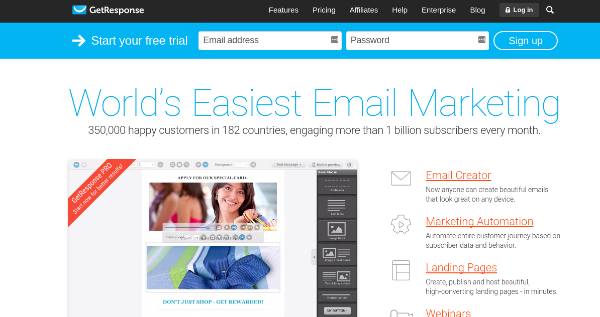 Email Marketing Services for Small Enterprises - getresponse