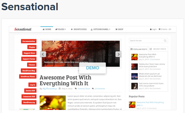 best personal blog wordpress themes - sensational
