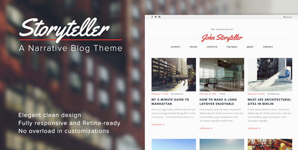 best personal blog wordpress themes - storyteller