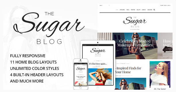 best personal blog wordpress themes - sugarblog