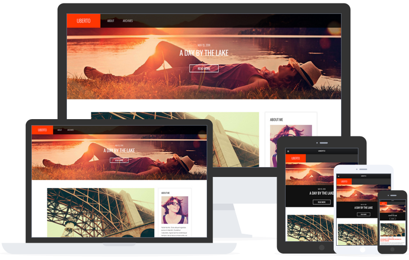 best personal blog wordpress themes - uberto