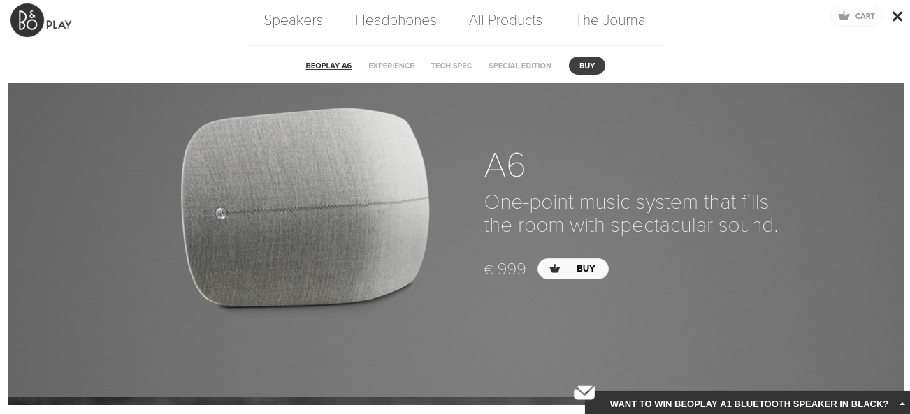 examples of parallax scrolling - beoplay