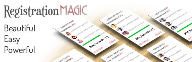RegistrationMagic - WordPress custom registration form plugin