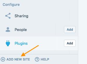 adding multiple sites in calypso