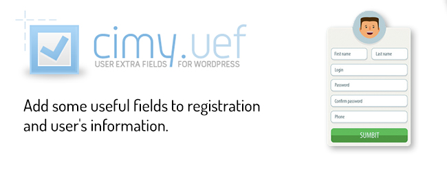 Cimy user extra fields - WordPress custom registration form plugin