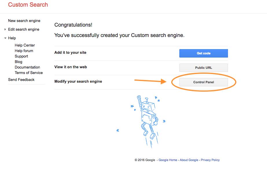 google-custom-search-control-panel