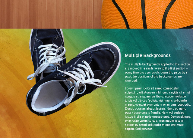 first to you parallax scrolling - nike
