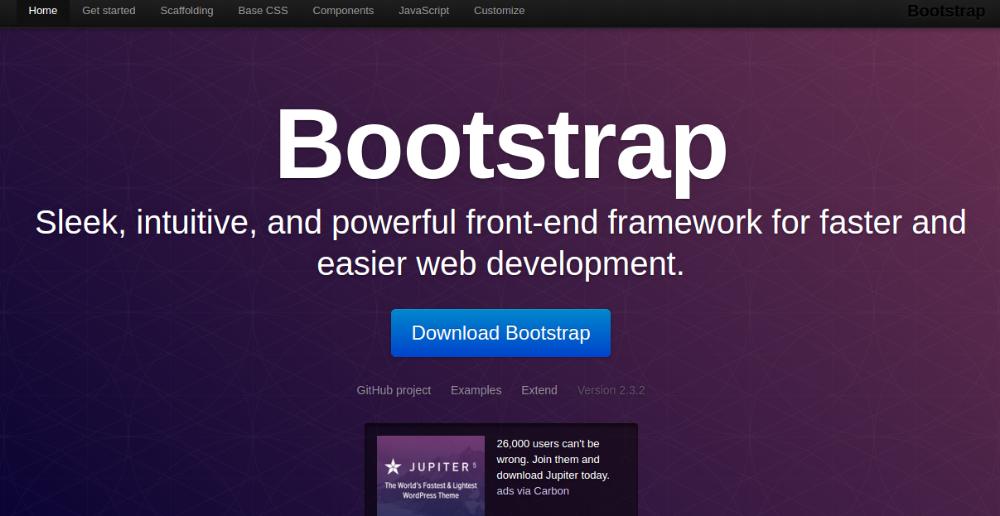 best CSS3 frameworks - getbootstrap