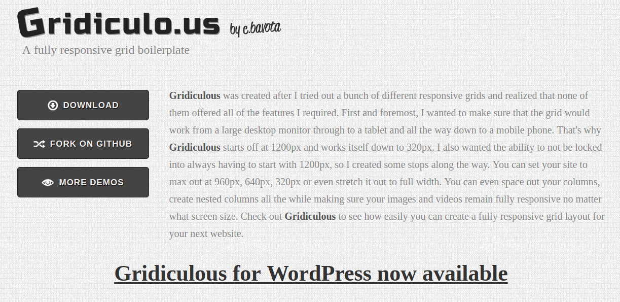 best CSS3 frameworks 2016-17 : Gridiculous