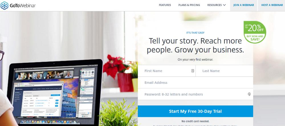 Webinar Softwares for WordPress - gotomeeting