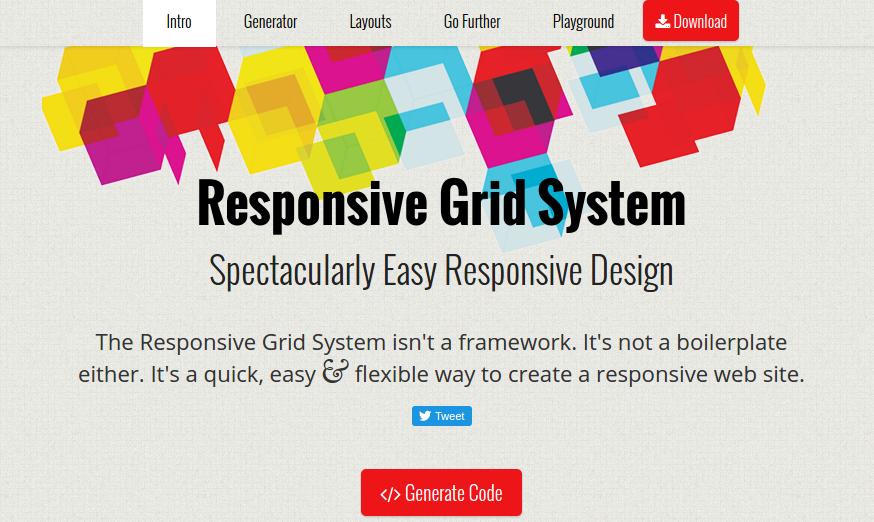 best CSS3 frameworks - responsivegridsystem