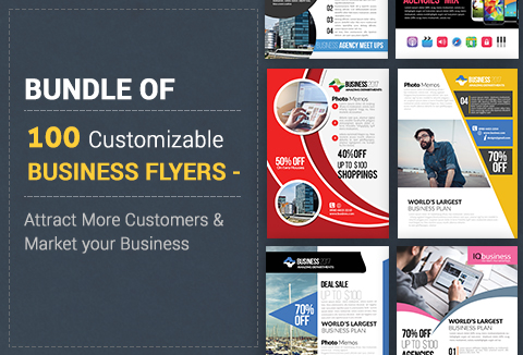 Mega deals - 100 business flyers