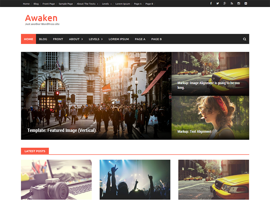 best free responsive WordPress themes - awaken