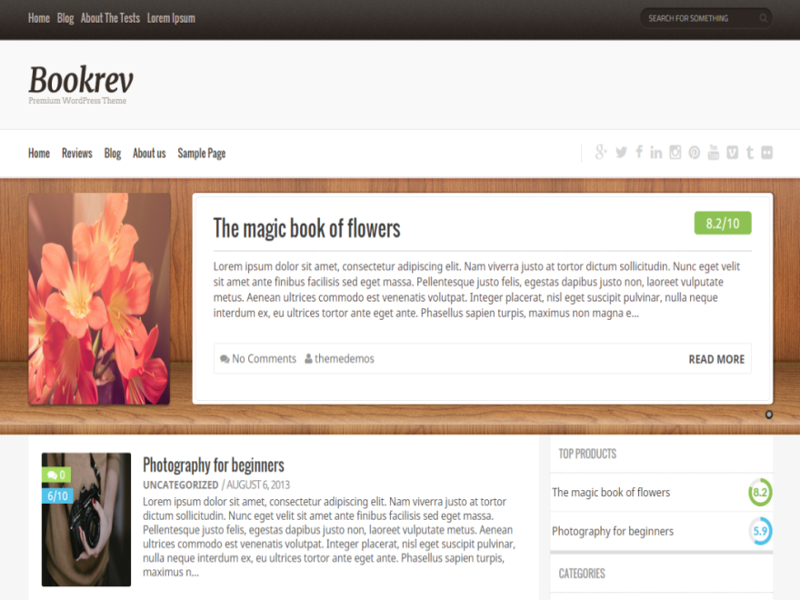 best free responsive WordPress themes - Bookrev