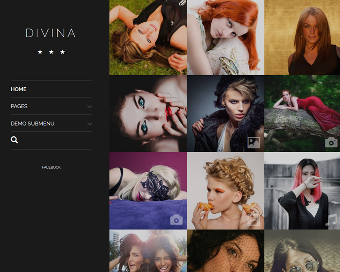 Divina photographer theme
