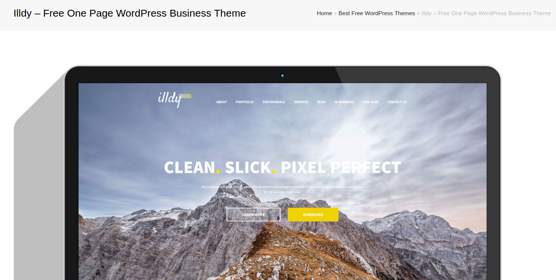 best free responsive WordPress themes - illdy