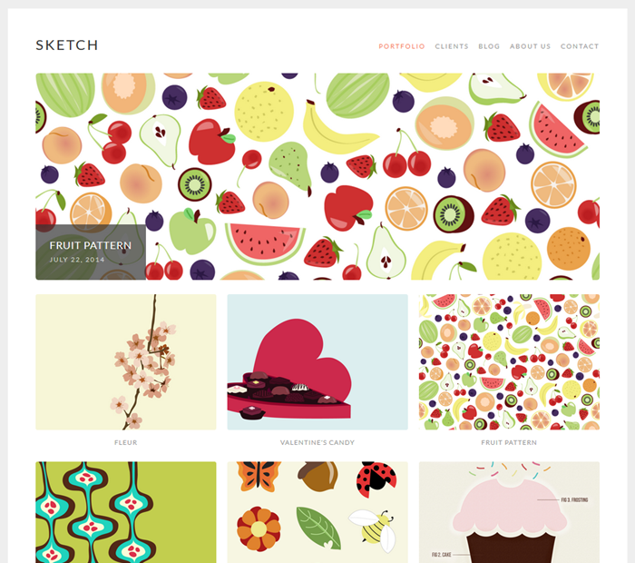 sketch wordpress theme for artists