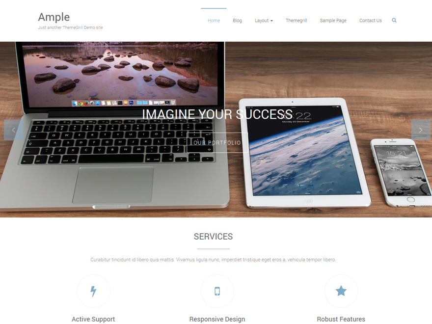 best free responsive WordPress themes - ample