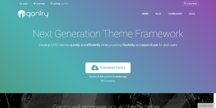 WordPress Theme Frameworks - gantry