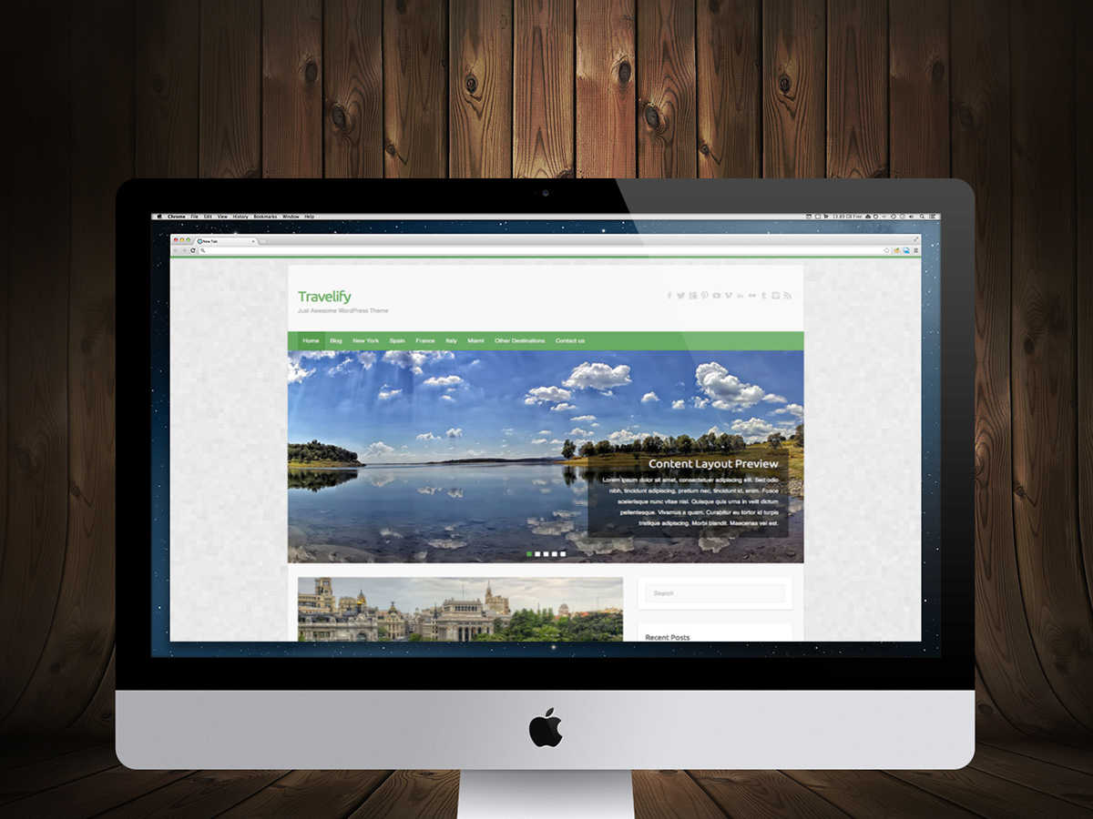 best free responsive WordPress themes - travelify