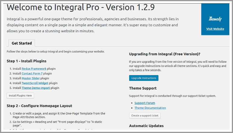 integral pro required plugins
