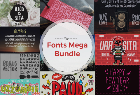 mega deals - mega-font-bundle