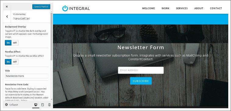 newsletter section