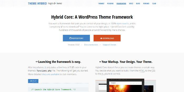 WordPress Theme Frameworks - themehybrid-com