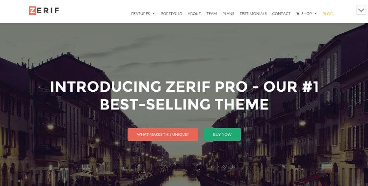 zerif pro theme