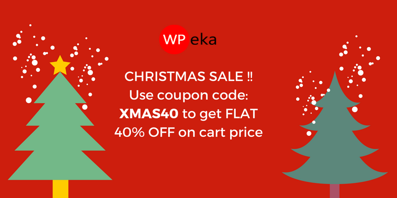 CHRISTMAS SALE !! Use coupon code- XMAS40 to get FLAT 40% OFF on cart price