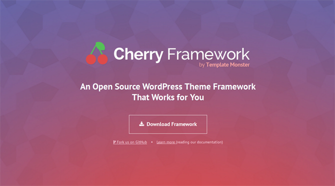 Cherry Framework 4.0 - Web Design Tools