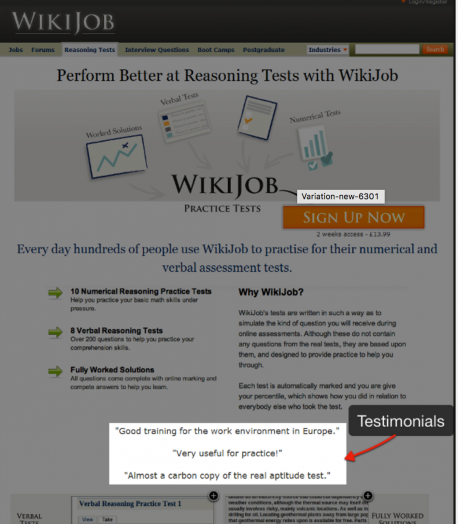 Wikijob testimonials | WordPress Testimonial Plugin