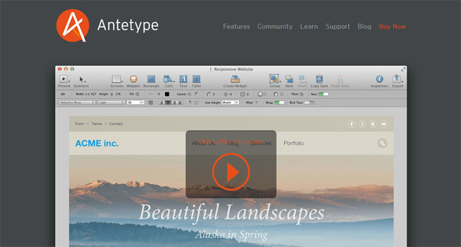 Antetype - Web Design Tools