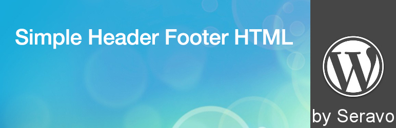 Simple Header Footer HTML
