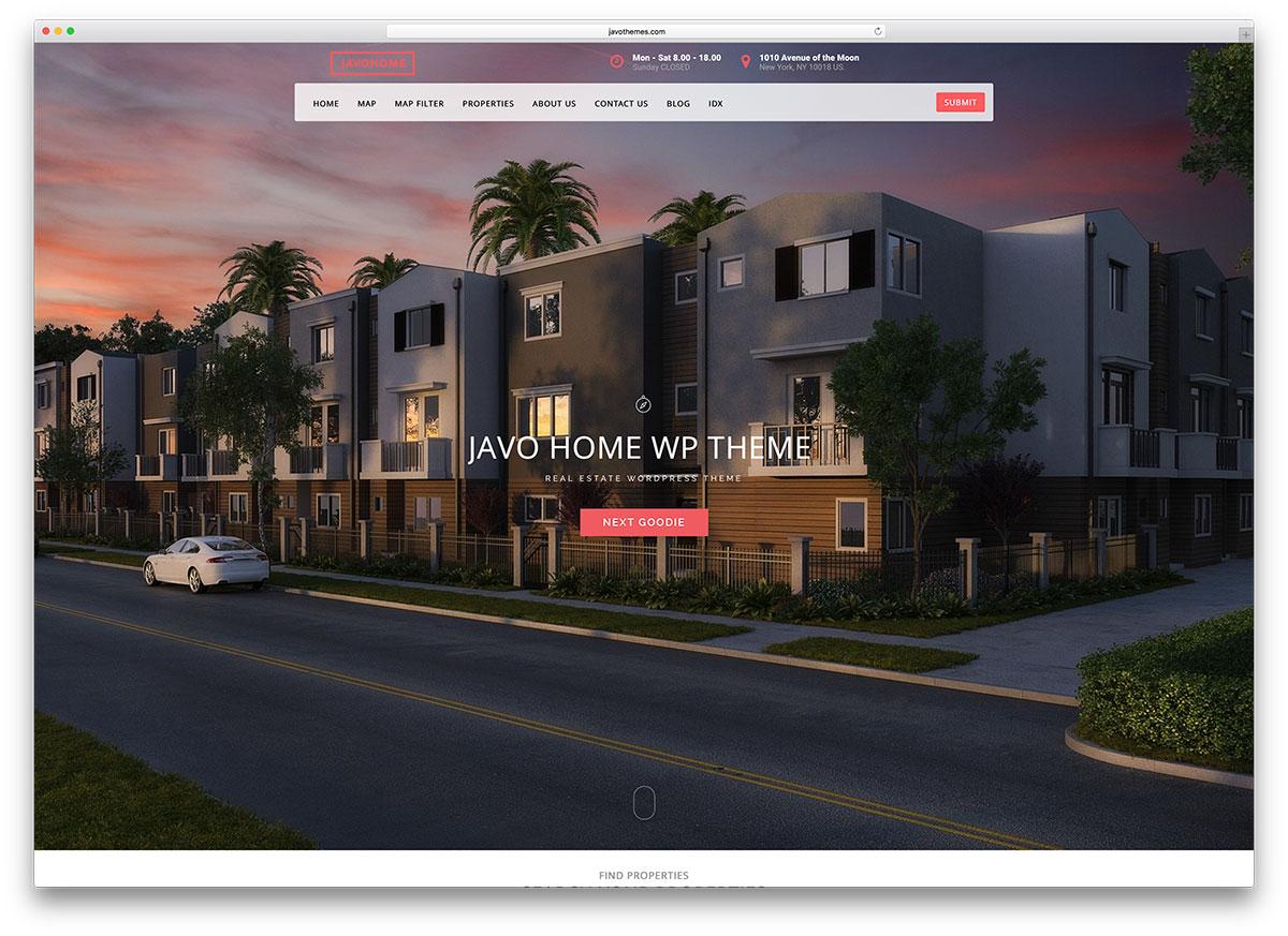 Javo Home | Real Estate WordPress Themes