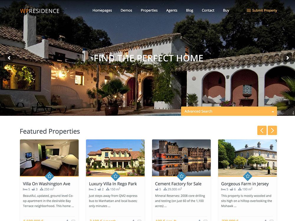WP Residence | Real Estate WordPress Themes