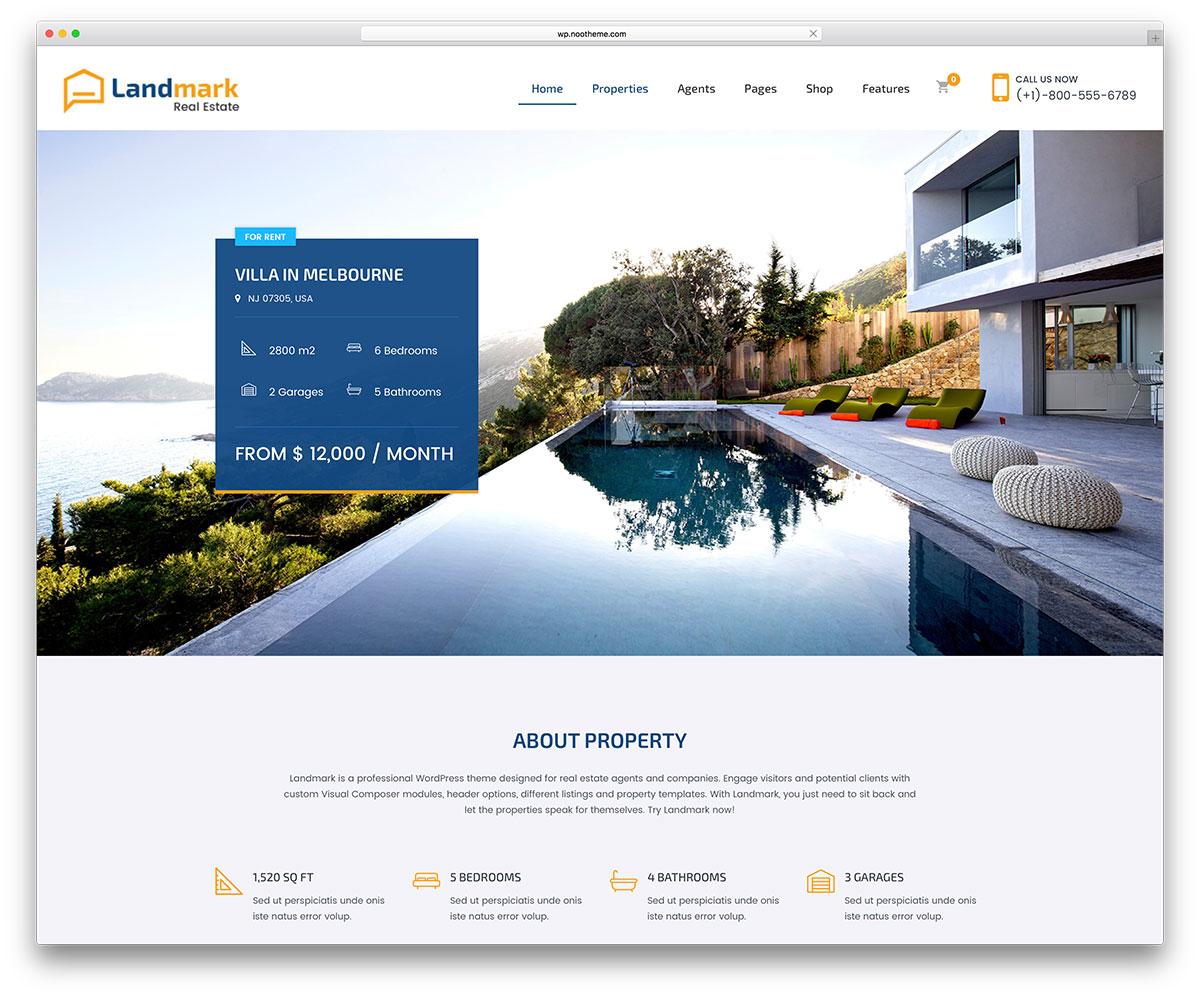 Landmark | Real Estate WordPress Themes
