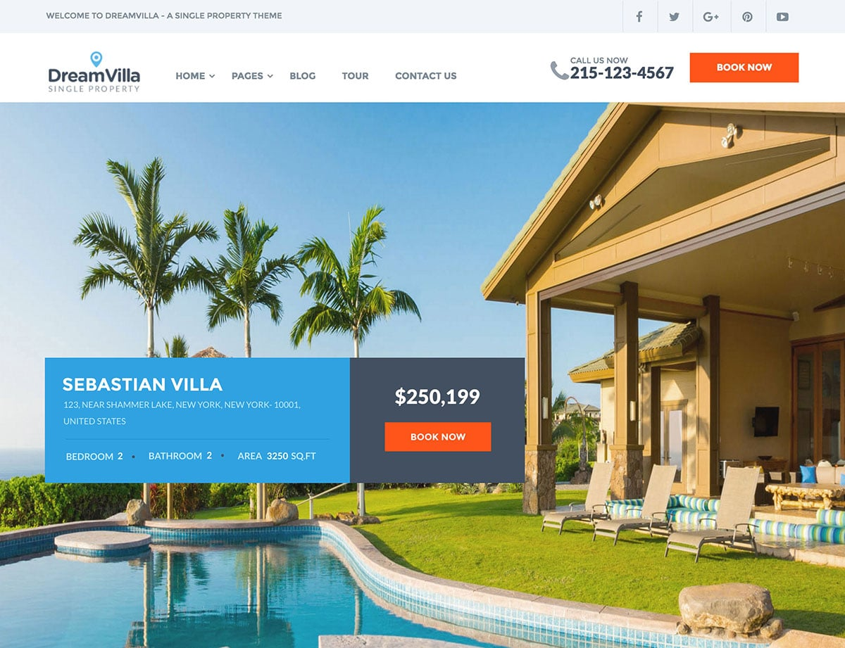 DreamVilla | Real Estate WordPress Themes