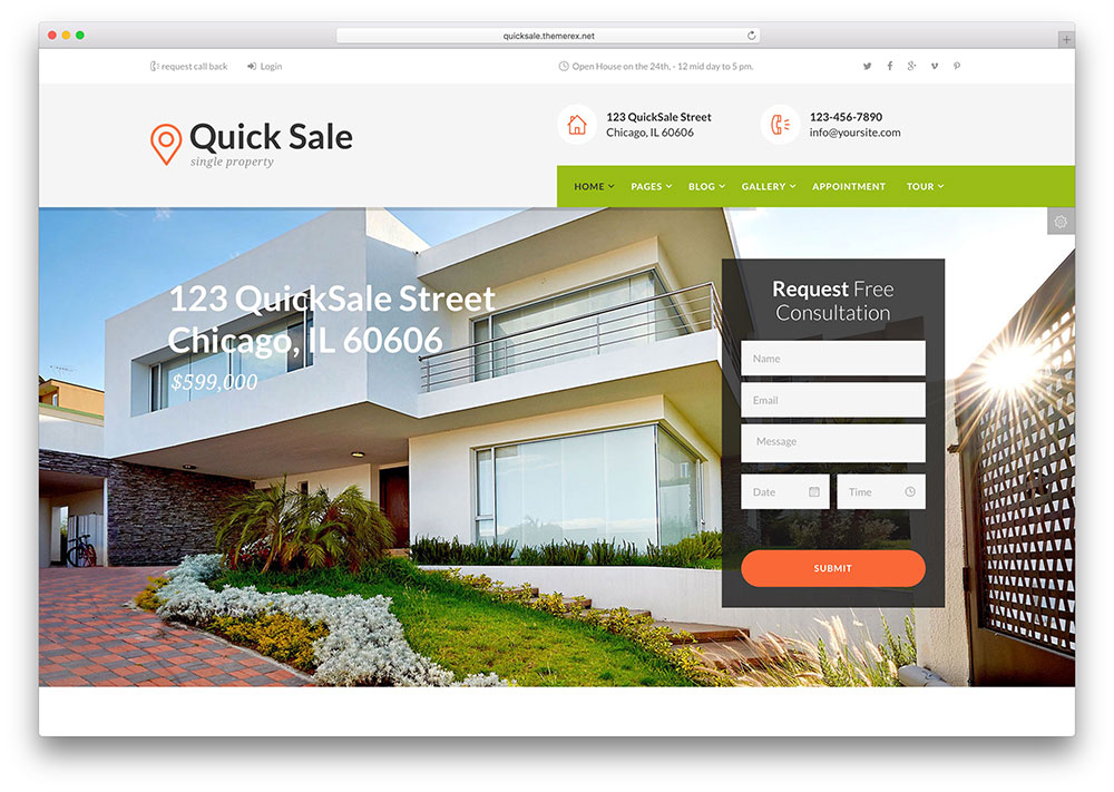 Quick Sale | Real Estate WordPress Themes