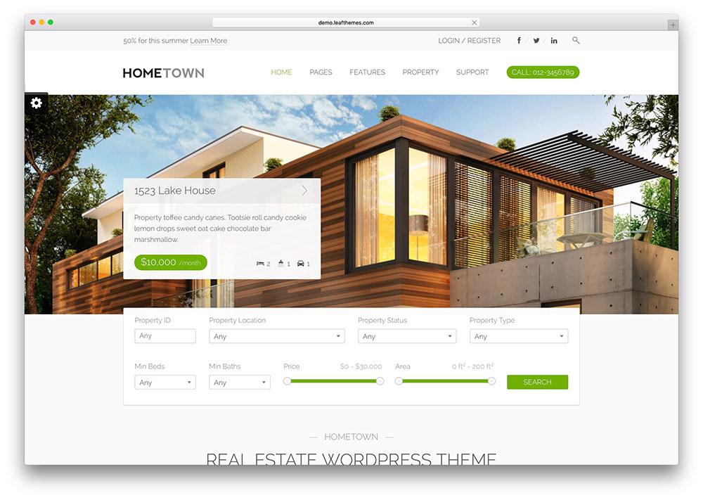 Hometown | Real Estate WordPress Themes