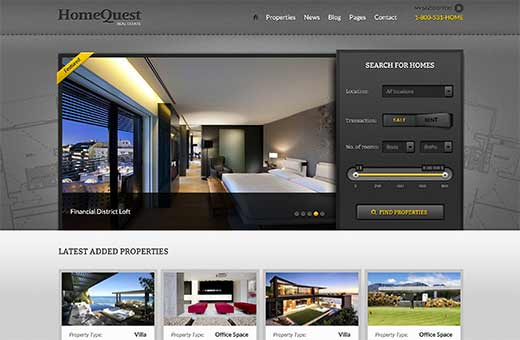 Home Quest | Real Estate WordPress Themes