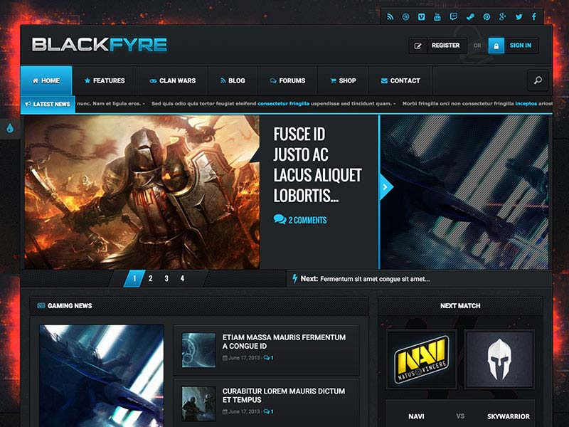 Best WordPress Gaming Themes 2017 | Blackfyre