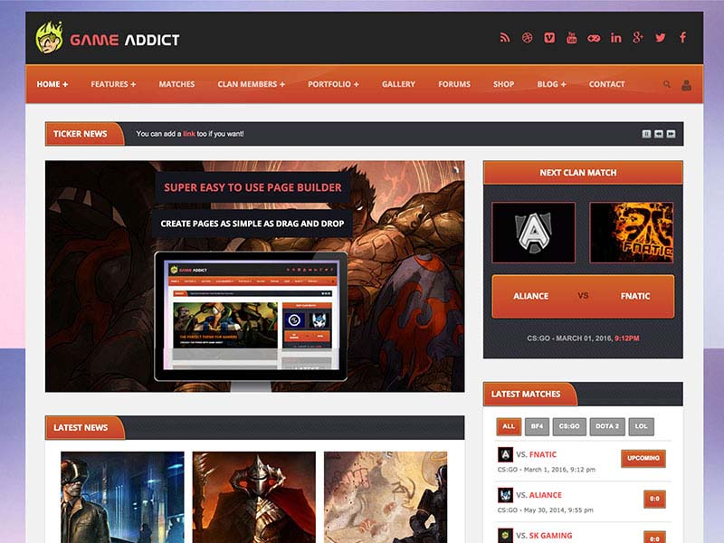 Best WordPress Gaming Themes 2017 | Game Addict