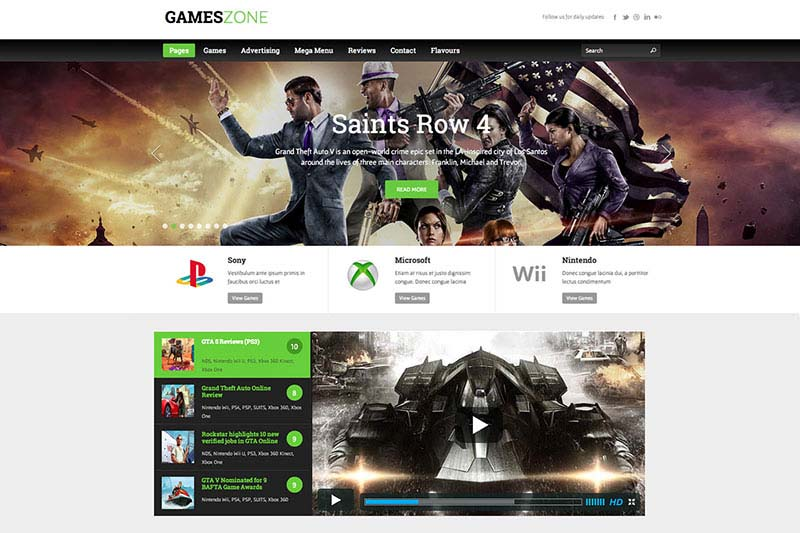 Best WordPress Gaming Themes 2017| GamesZone