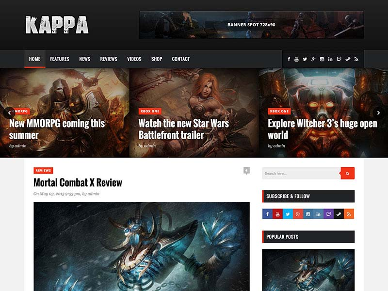 Best WordPress Gaming Themes 2017 | Kappa